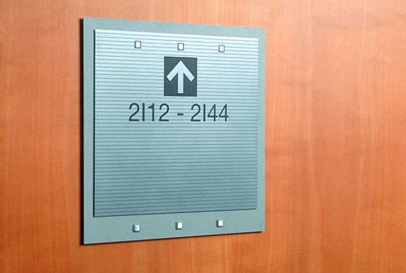 Wayfinding Signage Design Image AC12. The Design Office of Steve Neumann and Friends, Houston, Texas, 713.629.7501