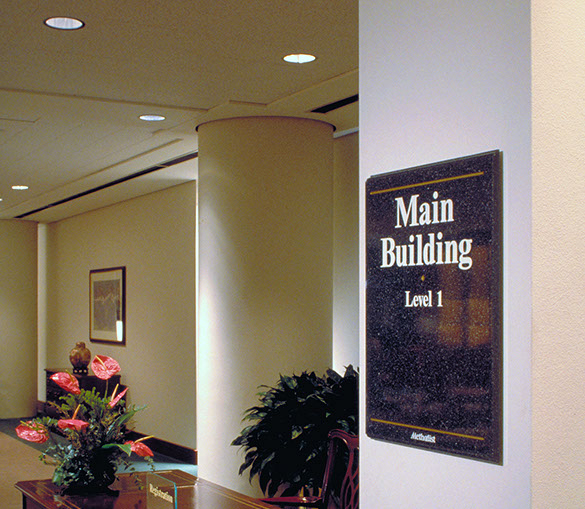 Wayfinding Signage Design Image MH12. The Design Office of Steve Neumann and Friends, Houston, Texas, 713.629.7501