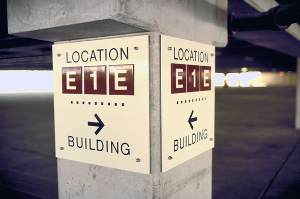 Wayfinding Signage Design Image AC4. The Design Office of Steve Neumann and Friends, Houston, Texas, 713.629.7501