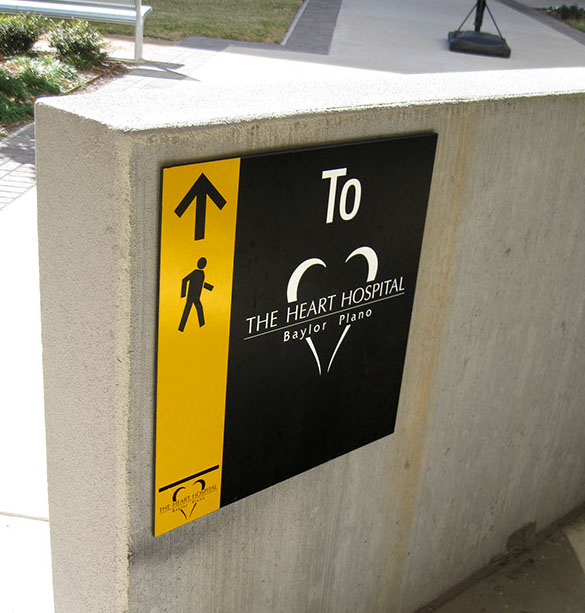 Wayfinding Signage Design Image TH11. The Design Office of Steve Neumann and Friends, Houston, Texas, 713.629.7501