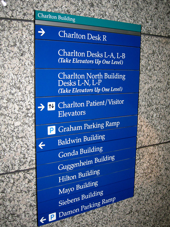 Wayfinding Signage Design Image MYC15. The Design Office of Steve Neumann and Friends, Houston, Texas, 713.629.7501
