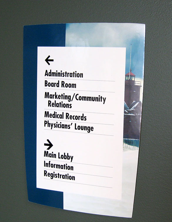 Wayfinding Signage Design Image HDG9. The Design Office of Steve Neumann and Friends, Houston, Texas, 713.629.7501